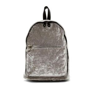 Madden Girl Grey Nylon Double Zip Backpack $27.00